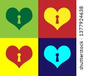 color heart with keyhole icon... | Shutterstock .eps vector #1377924638