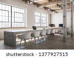 concrete conference room... | Shutterstock . vector #1377927515