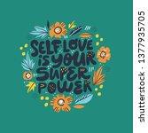 inspiring girl self esteem...   Shutterstock .eps vector #1377935705