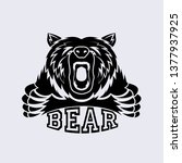angry bear vector icon | Shutterstock .eps vector #1377937925