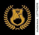 heraldic shield symbol in... | Shutterstock .eps vector #1377940598