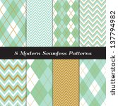 Chevron And Argyle Patterns In...