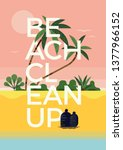 beach cleanup concept layout ... | Shutterstock .eps vector #1377966152