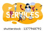 services concept. idea of... | Shutterstock . vector #1377968792