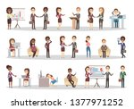 business people set. office... | Shutterstock . vector #1377971252