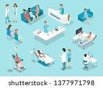 isometric flat interior of...   Shutterstock . vector #1377971798