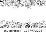 vector outline hand drawn frame ... | Shutterstock .eps vector #1377973208