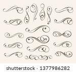 elegant elements of design... | Shutterstock .eps vector #1377986282