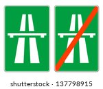 highway signs  vector | Shutterstock .eps vector #137798915