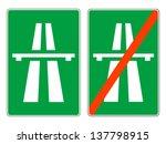 highway signs  vector | Shutterstock .eps vector #137798915