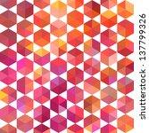 retro pattern of geometric... | Shutterstock .eps vector #137799326