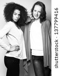 beautiful girls posing   Shutterstock . vector #137799416