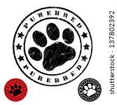 Grunge Animal Footprint  ...