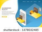 augmented reality landing page... | Shutterstock . vector #1378032485