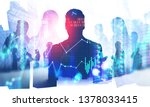 silhouettes of business people...   Shutterstock . vector #1378033415