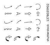 set of arrow hand drawn | Shutterstock .eps vector #1378035902