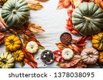 Autumn Food Background With...
