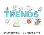 trends word lettering...   Shutterstock .eps vector #1378051745