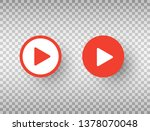 play button icons set isolated... | Shutterstock .eps vector #1378070048