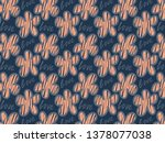 flowers pattern with beautiful... | Shutterstock . vector #1378077038