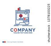 company name logo design for 3d ... | Shutterstock .eps vector #1378103225