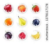 set of fruits and berries in a... | Shutterstock .eps vector #1378117178
