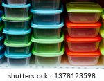a pile of clear plastic...   Shutterstock . vector #1378123598