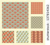 retro set with various seamless ... | Shutterstock . vector #137814362