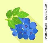 tasty bilberry icon. flat... | Shutterstock .eps vector #1378176635