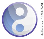ying yang icon. cartoon of ying ... | Shutterstock .eps vector #1378176668