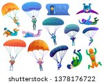 parachute skydiving vector... | Shutterstock .eps vector #1378176722