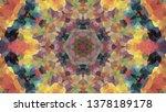 geometric design  mosaic of a... | Shutterstock .eps vector #1378189178