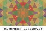 geometric design  mosaic of a... | Shutterstock .eps vector #1378189235