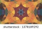 geometric design  mosaic of a... | Shutterstock .eps vector #1378189292