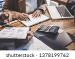 business team working with new... | Shutterstock . vector #1378199762