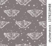 seamless geometrical monochrome ... | Shutterstock .eps vector #1378218488