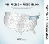 usa map puzzle   one state one... | Shutterstock .eps vector #137822852