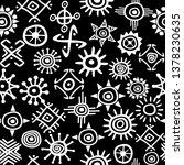 solar symbols seamless... | Shutterstock . vector #1378230635