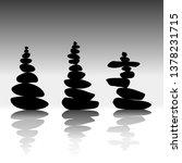 relax zen stones balanced.... | Shutterstock . vector #1378231715