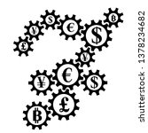 abstract gearing with currency... | Shutterstock . vector #1378234682