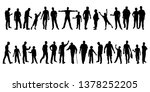 collection of mens silhouettes. ... | Shutterstock .eps vector #1378252205