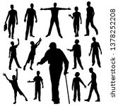 collection of mens silhouettes. ... | Shutterstock .eps vector #1378252208
