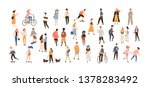 crowd of people performing... | Shutterstock . vector #1378283492