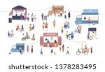 summer outdoor street food... | Shutterstock . vector #1378283495