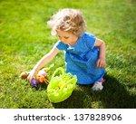 Little Girl On An Easter Egg...