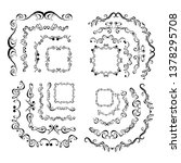 decorative monograms and... | Shutterstock .eps vector #1378295708