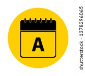 letter a day calendar yellow... | Shutterstock .eps vector #1378296065