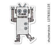 distressed sticker of a cute... | Shutterstock . vector #1378301135