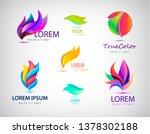 vector set of abstract spa ... | Shutterstock .eps vector #1378302188