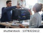 group of broker dealers working ...   Shutterstock . vector #1378322612